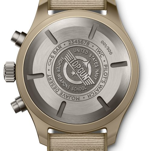 Der Pilot's Watch Chronograph Top Gun Edition »Mojave Desert« besitzt ein Keramikgehäuse mit 44,5 Millimetern Durchmesser.