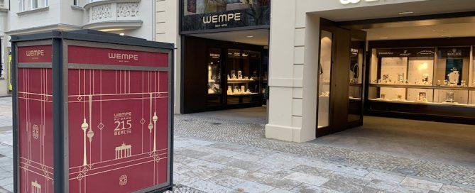 Die renovierte Fassade von Wempe am Kurfürstendamm 215.