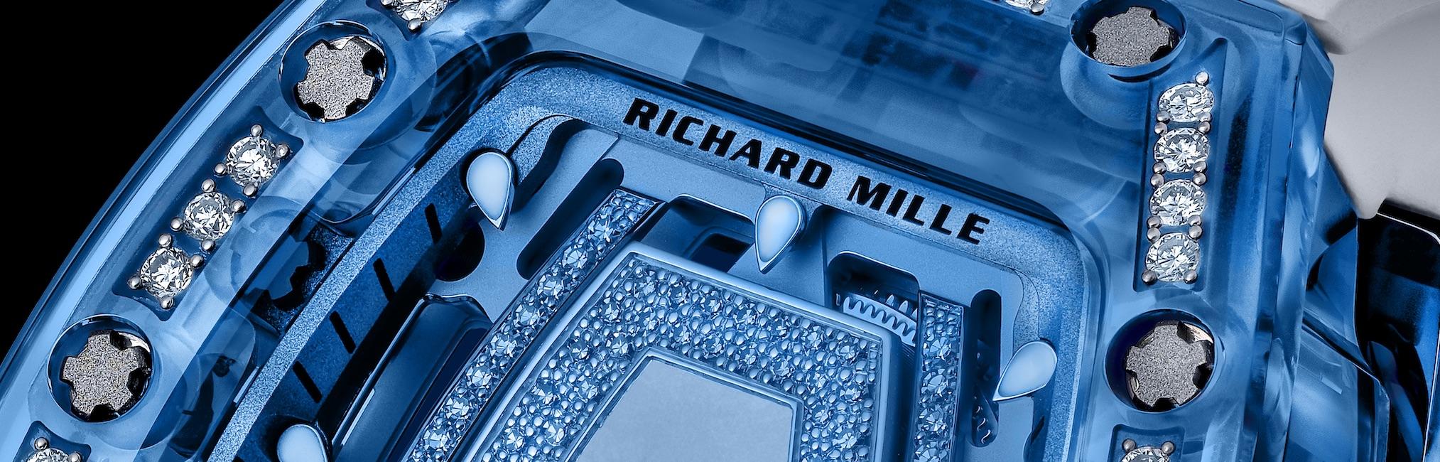 Die Gemset Sapphire RM 07-02 von Richard Mille.
