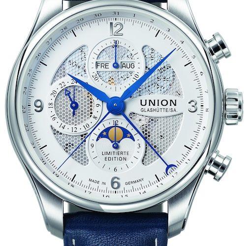 Der Union Glashütte Belisar Chronograph Mondphase Edition Sachsen Classic 2019 ist auf 300 Exemplare limitiert.