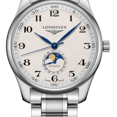 Die Longines Master Collection Mondphase in 40 Millimeter Größe mit Stahlband kostet 2.100 Euro.