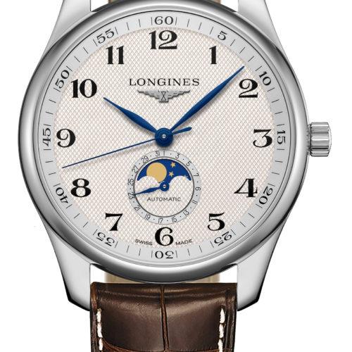 Die Longines Master Collection Mondphase mit Gerstenkorn-Dekor und Alligatorlederband kostet 2.100 Euro.