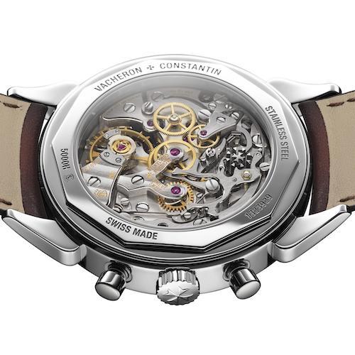 Das Handaufzugwerk des Chronographen besitzt eine Gangautonomie von 48 Stunden.
