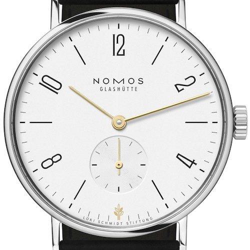 Die Nomos Tangente 35 Loki Schmidt ist ausschließlich bei Wempe erhältlich.