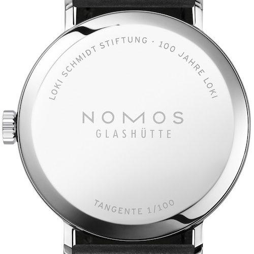 Die Nomos Tangente 35 Loki Schmidt ist limitiert auf 100 Exemplare.