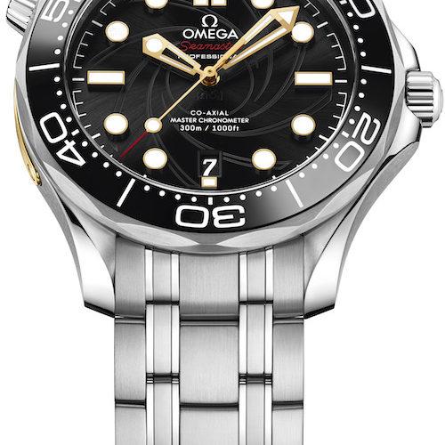 Für die Seamaster Diver James Bond von Omega ist auch ein Edelstahlband erhältlich.