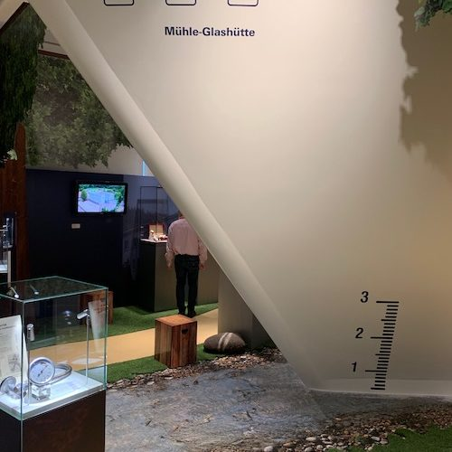 Eine Sonderaustellung im Obergeschoss zeigt die Geschichte der Familie Mühle und ihrer Firma.
