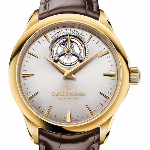 Das Manero Tourbillon Double Peripheral von Carl F. Bucherer in Gelbgold.