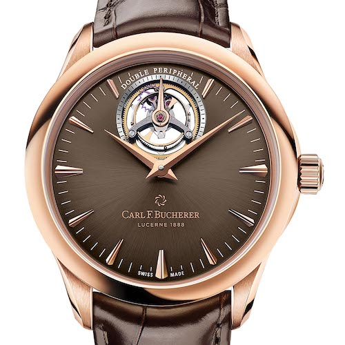 Das Manero Tourbillon Double Peripheral von Carl F. Bucherer in Roségold.