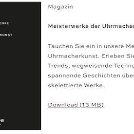 Die Meisterwerke der Uhrmacherkunst sind kostenlos auf der Wempe-Homepage abzurufen.