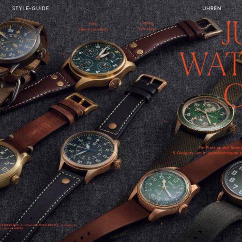 Das Bronzeuhren-Special wie alle Uhrenthemen in Focus Style werden von mir betreut.