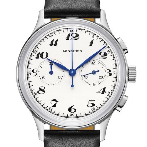 Der Longines Heritage Chronograph 1946 trägt den originalen Schriftzug.