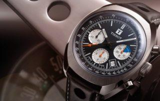 Tissot legt drei Versionen des Rennsportchronographen Heritage 1973 neu auf.