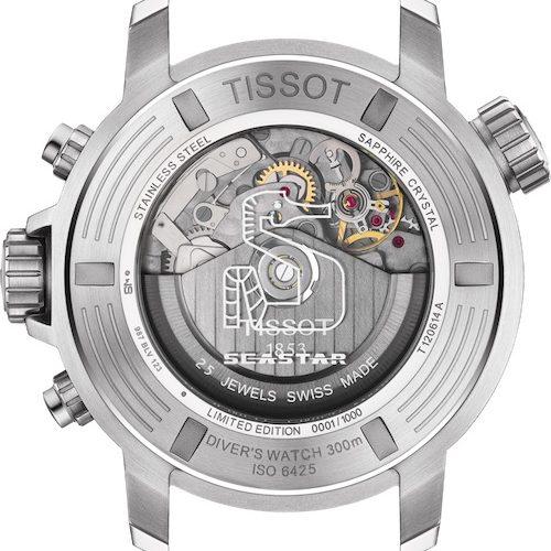 Das Chronographenwerk der Seastar 1000 Professional ist mit 28.800 Halbschwingungen je Stunde getaktet.