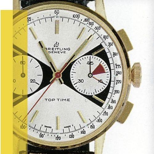 Eine Katalogabbildung der Breitling Top Time Ref. 2003 aus den 1960er Jahren.