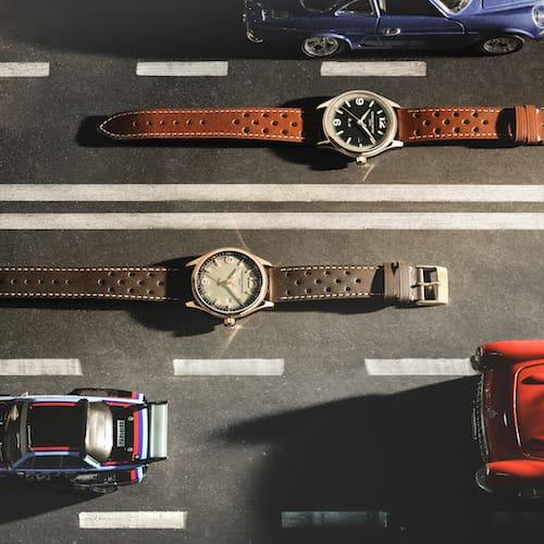 Die beiden Modelle der neuen Austin-Healey Automatic.