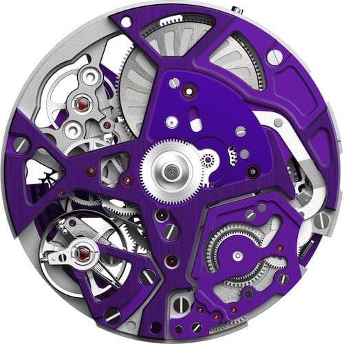 Das Zenith-Kaliber ist mit fünf Hertz für das UHrwerk und mit 50 Hertz für den Chronographen getaktet.
