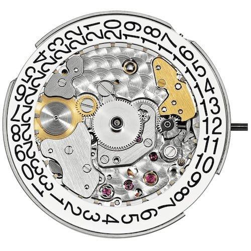 Das Kaliber 324 S C ist mit 28.800 Halbschwingungen je Stunde getaket.